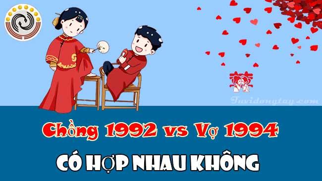 Luận giải chồng 1992 vợ 1994 có hợp nhau không và cách hóa giải xung khắc vợ chồng nếu có?